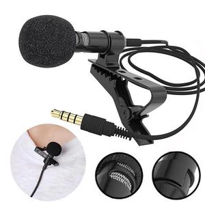 Portable External 3.5mm Hands-Free Wired Lapel Clip Microphone for Loudspeaker phone computer accessory