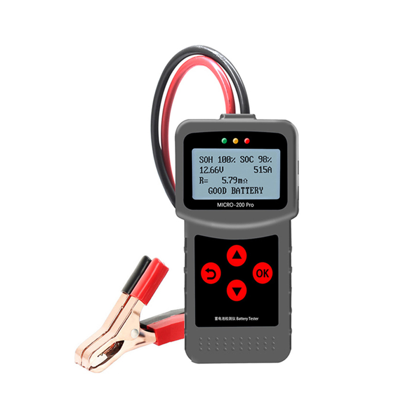 MICRO-200PRO 12v 24v capacidade digital carro sistema de descarga carga analisador caminhão motocicleta automotivo testador bateria automóvel
