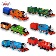Original Thomas and Friends Train Toy Track Master 1:43 Trains Metal Model Car Material Toys for Children Brinquedos Kids Gift стоимость