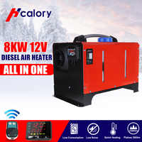 All in One Unit 1-8KW 12/24V Car Heating Tool Diesel Air Heater Single Hole LCD Monitor Parking Warmer For Car Truck Bus Boat RV
