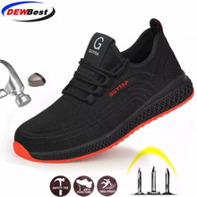 Sneaker Safety-Boots Construction-Work DEWBEST Steel Toe Anti-Smashing Men's Outdoor