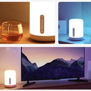 Image 5 - Xiaomi Mijia прикроватная лампа 2 свет WiFi/Bluetooth Светодиодная лампа Смарт Крытый ночник работает с Apple HomeKit