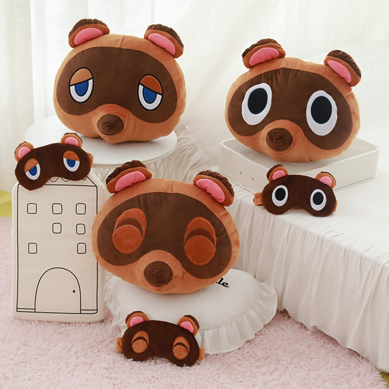 Animal Crossing Toys Plush Pillow  Animal Crossing Cosplay Kawaii Raccoon Blinder Cute Raccoon For Children Kids Toys Soft
