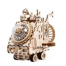 Diy креативный детский подарок 4D деревянная музыкальная шкатулка механическая музыкальная шкатулка украшение дома звезда исследования космоса ремесла