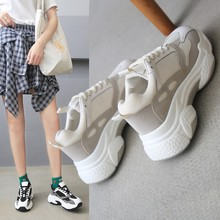 Liren 2019 Summer Fashion Casual Women Air Mesh Vulcanize Shoes Comfortable Breathable Lace-up Flat Heels