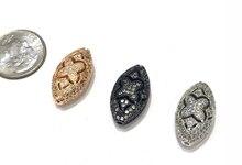 11x18mm латунь микро-проложить CZ Циркон овальные бусины Шарм бусины аксессуары для браслет ожерелье DIY ювелирные изделия делая дизайн