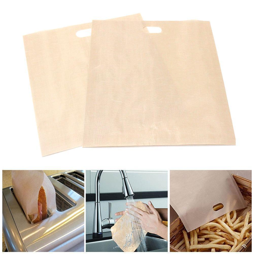 5 Pcs Reusable Toaster Bag Non Stick Sandwich Bags Baking Bag Microwave Cheese Made Coated Grilled Tools Toast Fiberglass P1Z4 image