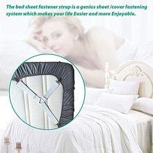 4Pcs / Set Elastic Bed Sheet Grippers Belt Fastener   Clips Mattress Cover Blankets Holder Home Textiles Organize Gadgets