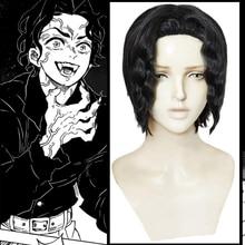 Anime Demon Slayer Kimetsu Không Yaiba Cosplay Bộ Tóc Giả Kibutsuji Muzan Cosplay Bộ Tóc Giả Tổng Hợp Tóc Giả Tóc Halloween Tóc Lưỡi Dao Của Con Quỷ