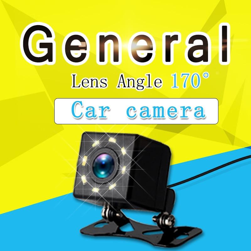 8 LEDS Car 170° Degree Reversing Rear View Camera Backup Parking  HD Night Vision  Waterproof
