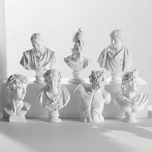7cm Mini Figurine Celebrities Home Decor Drawing Practice Plaster Statue Famous Sculpture Gypsum Bust Portraits Greek Mythology