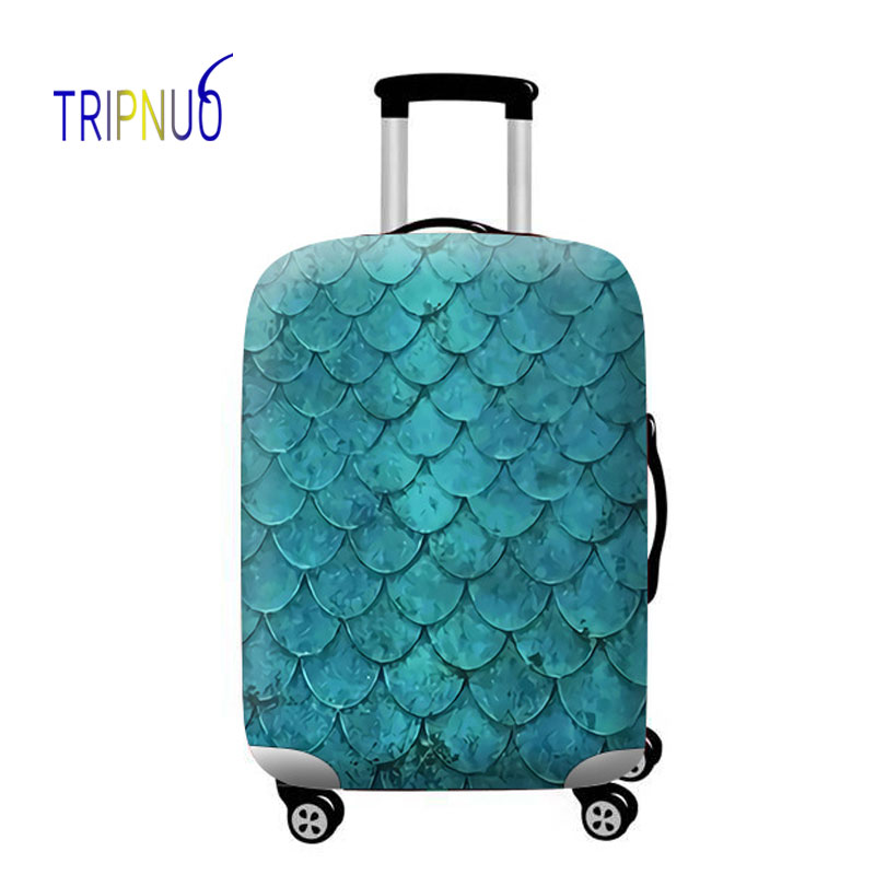 TRIPNUO Feather Luggage Elastic Protective Cover Animal Pattern For 18-32inch Suitcase Cover Travel  Accessories