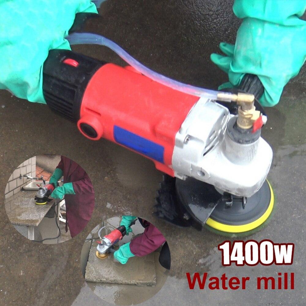 1400W Polierer Maschine Stein Beton Marmor Granit Schleifen Polieren Maschine Polierer Wasser Mühle Winkel Grinder Power Tools