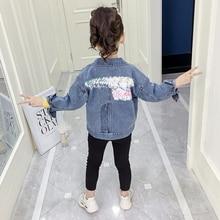 цена Children's Denim Jacket for Girls Baby Child Cardigan Jeans Outerwear Coat Toddler Kids Bomber Jackets Teenage Clothing Autumn онлайн в 2017 году