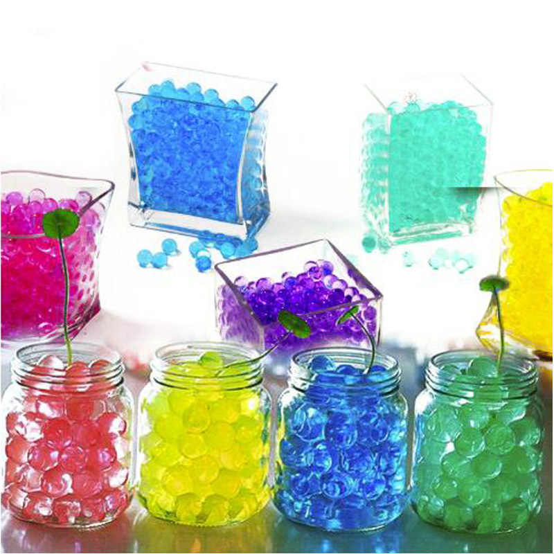 Cerca de 100 Em Forma de pçs/lote Hidrogel Solo de Cristal Contas de Água Bio Gel Mud Crescer Bolas Geléia Magia Orbiz Para Casa Casamento decoração de páscoa