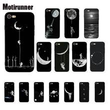 Motirunner And White Moon Creative Silicone Phone Case Cover For IPhone 8 7 6 6S 6Plus X XS MAX 5 5S SE XR 10 11 Pro Max motirunner and white moon creative silicone phone case cover for iphone 8 7 6 6s 6plus x xs max 5 5s se xr 10 11 pro max