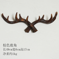 Staghorn Shape American Style Resin Hook Yellow Brown Black imango Personalized Towel Hat Clothes Storage Bathroom Home Decor