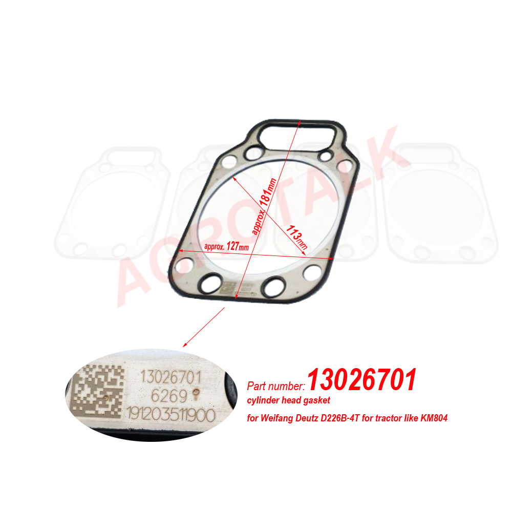 Cylinder Head Gasket With Part Number 13059912 / 13026701 For Weichai 226B / WP4 / WP6