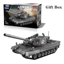 Gifts Box The Military Technic 06032 The German Leopard-2A6 Main Battle Tank Model Building Blocks Bricks With Figures Toys xingbao technic new military series 06033 the uk challenger2 main battle tank model blocks bricks toys figure christmas gifts