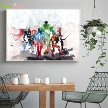 Watercolor Superhero Superman Nordic Poster Famous Movie Wall Art Canvas Painting Pictures For Living Room Unframed