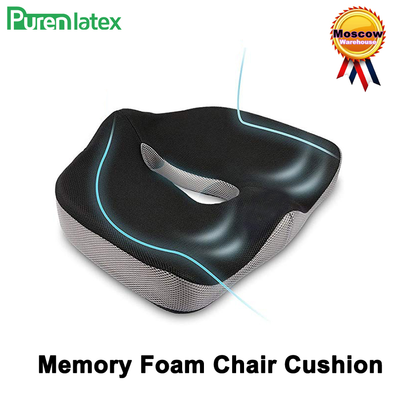 Coccyx Memory Foam Chair Orthopedic Pillow Office Seat Pad Hemorrhoid Treat Car Seat Big Cushion Relief Pain Tailbone Pillow