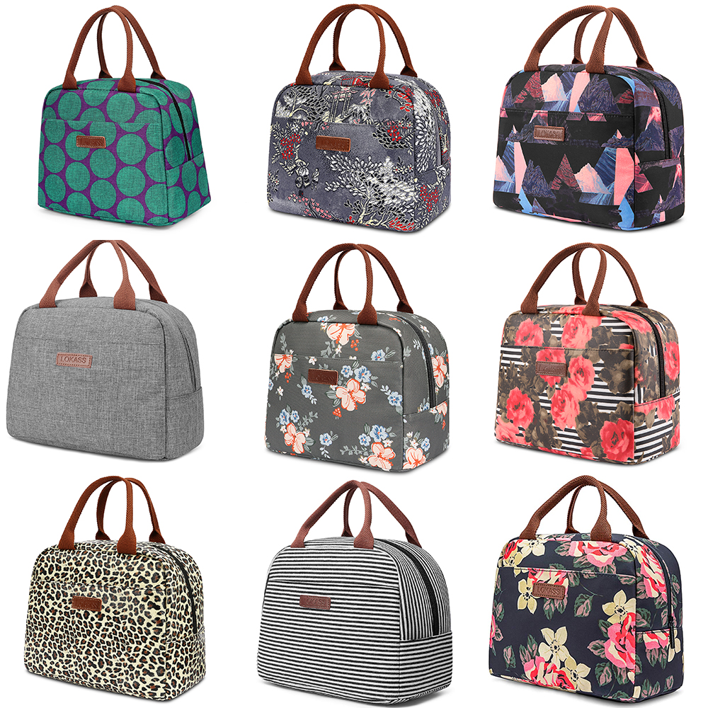 22 Styles! Portable Thermal Lunch Bags For Women Insulated Tote Bag New Large Shoulder Food Picnic Carry Case Cuctas Tote Bolso
