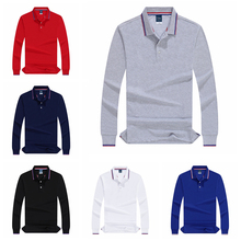 2019 Autumn Men Polo Shirt Vintage Clothing Pure Cotton Male Business Casual Polo ShirtsCustomization Long Sleeve Tennis clothed