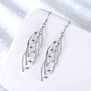 Classic 925 Sterling Silver Drop Earrings for Women Long Tassel Multi layer Twisted Wave Earrings Oorbellen.jpg 350x350 - Classic 925 Sterling Silver Drop Earrings for Women Long Tassel Multi-layer Twisted Wave Earrings Oorbellen Brincos pendientes