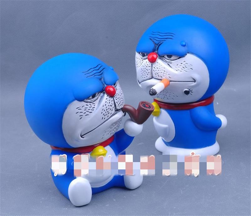 Kawaii Doraemon Piggy Bank Model Doll Japan Doraemon Anime PVC Action Figure Doll Children Kids Toys Birthday Gift