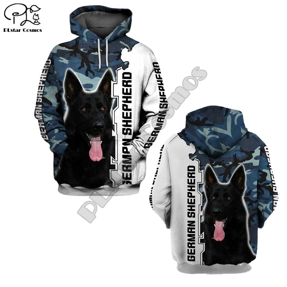 Mens Funny German Shephero Dog 3d Print New Hoodies Autumn Long Sleeve Sweatshirts Women Pullover Tracksuit Hoody Spring Outwear