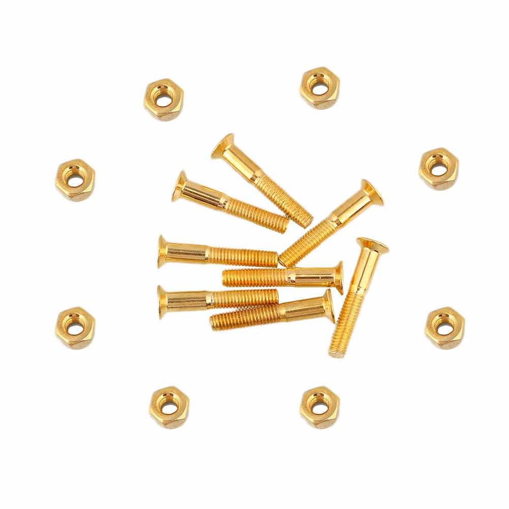 8 шт./лот 29 мм скейтборд аппаратные гвозди Болт Винты Комплект Скейтбординг золото