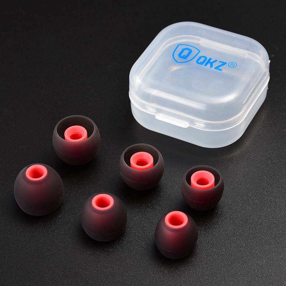 QKZ 3 זוגות אוניברסלי החלפת סיליקון Eartips אוזניות באוזן אוזניות אוזניות