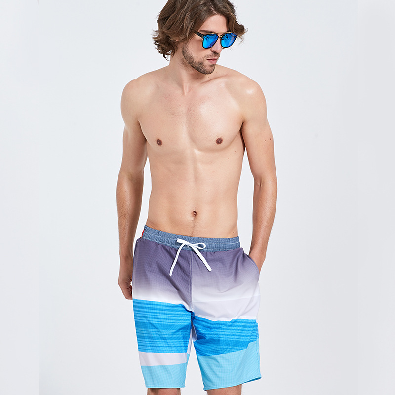 Sbart Quick-Dry Beach Shorts Men's Loose-Fit Lining Seaside Holiday Hot Springs Swimming Trunks Short Shorts Large Size Fashion