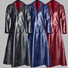 2019 Autumn Winter Men Trench Coat Men's Fashion Gothic Long