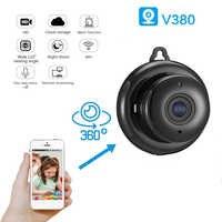 Patrón de luz 720P HD Monitor de seguridad visión nocturna bebé WiFi IP cámara de vigilancia casa vídeo inalámbrico 3D lente de 360 grados