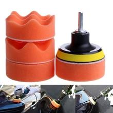 7pcs 3 Headlight Polisher Polishing Pad Set Polish Sponge Wheel Buffer Waxing for Car Body Care Assembly Repair