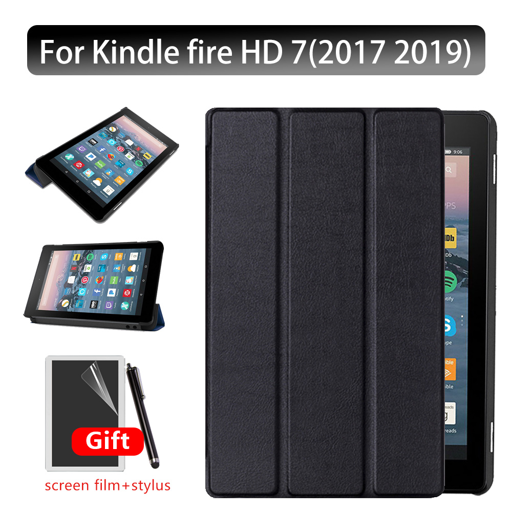 Ultra Thin Smart Cover For 2019 Amazon Kindle Fire HD 7 Tablet Case For Kindle Fire 7 9th Generation + Gift