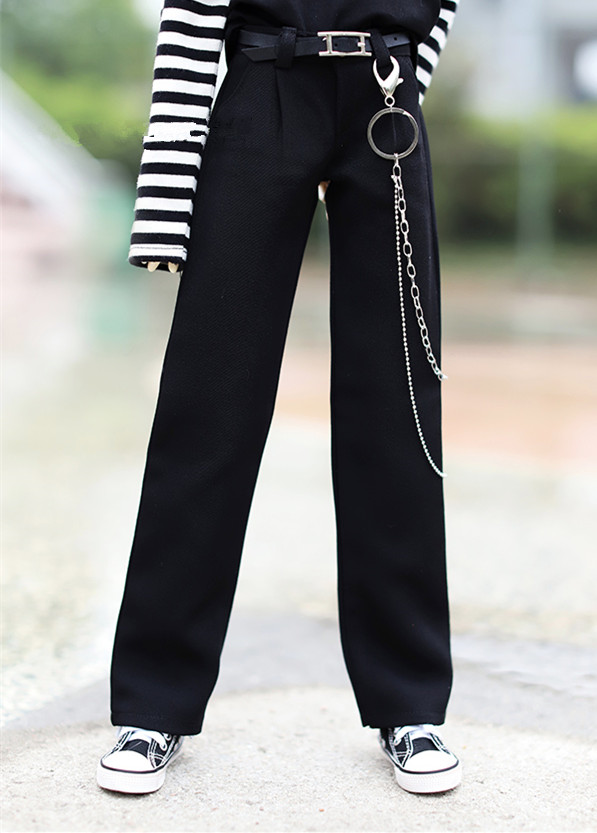 <font><b>BJD</b></font> doll <font><b>clothes</b></font> is suitable for 1/3 <font><b>1/4</b></font> size daily casual loose black wide leg pants doll accessories (only pants, not other) image