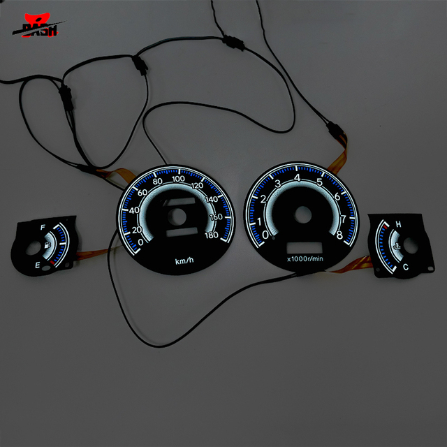 DASH EL glow gauge for RHD Corolla AE100 1993 1997 180 km 8000 RPM Black Panel Reverse White light