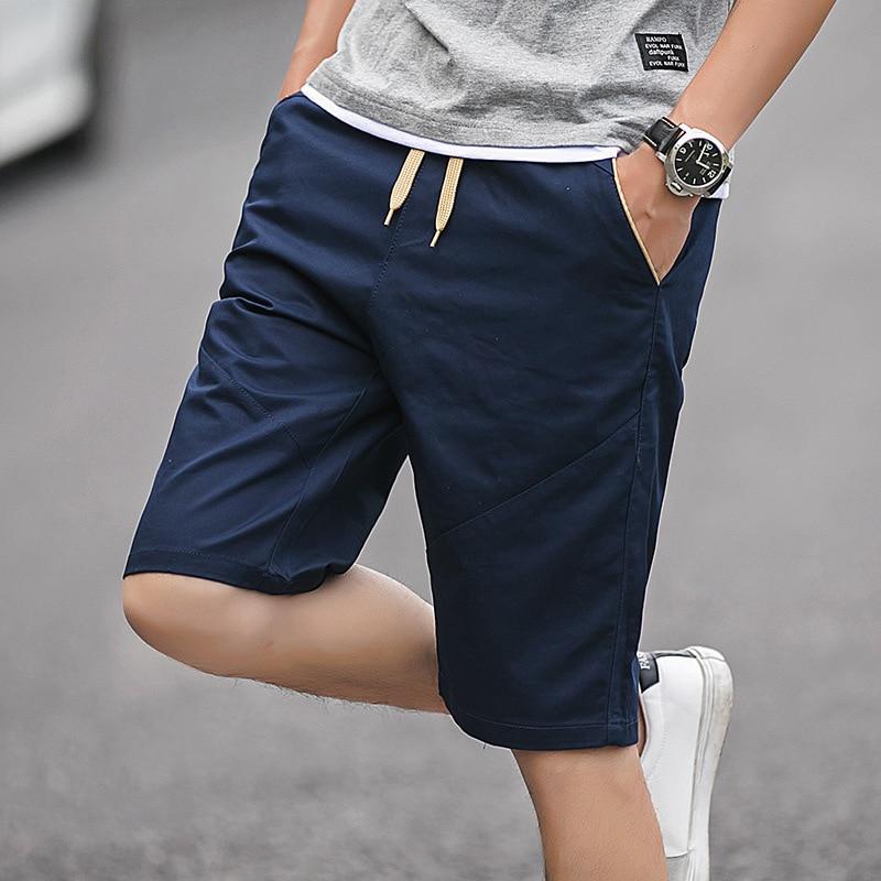 2019 Shorts Men's Summer MEN'S Casual Shorts Korean-style 5 Short In Pants Beach Breeches Fashion Straight