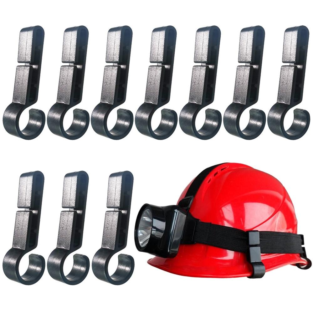 Helmet Clips For Headlamp,Headlamp Hook,hard Hat Light Clip,Helmet Clip,Easily Mount Headlamp On Narrow-Edged Helmet(Pack Of 10)