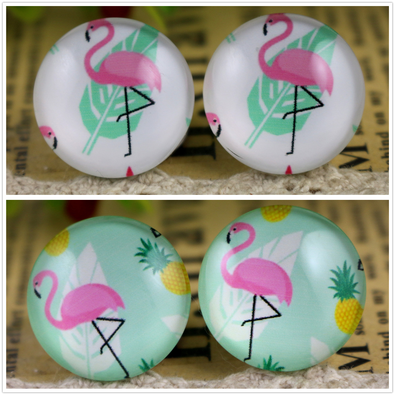 Hot Sale 10pcs 20mm Handmade Photo Glass Cabochons Pattern Domed Jewelry Accessories Supplies