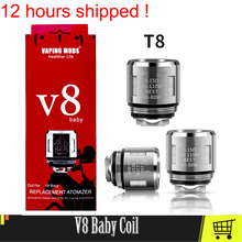 Authentic V8 Baby Vape Coil Head For V8 Big Baby Atomizer Evaporator Heater Core Baby Mesh T8 M2 Coil Electronic Cigarette Cores original electronic cigarette 240w vaptio n1 pro tc box mod vaping mod support vw 18650 battery fits 510 thread tank atomizer