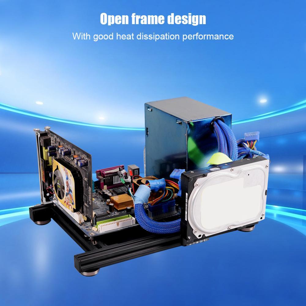 PC Open Case,DIY Mini Open Aluminum Alloy Frame ATX Motherboard PC ...
