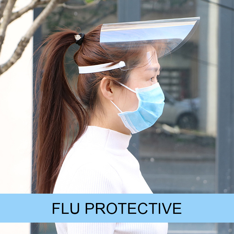 Creative Protective Face Shield Transparent Anti Droplet Dust-proof Protect Full Face Covering Mask  Safe Virus Protection Mask 5