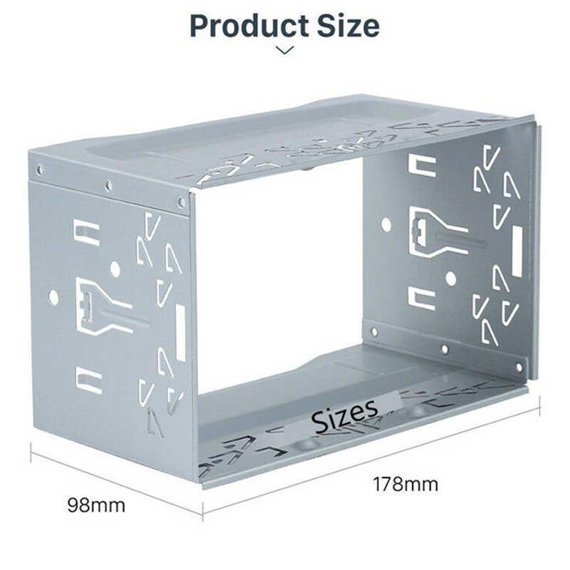ユニット 2 DIN ケージラジオ車両ケース車フィッティング DVD プレーヤーフレーム取付プレート鉄フレームプラスチックパネルとハードウェアアクセサリー