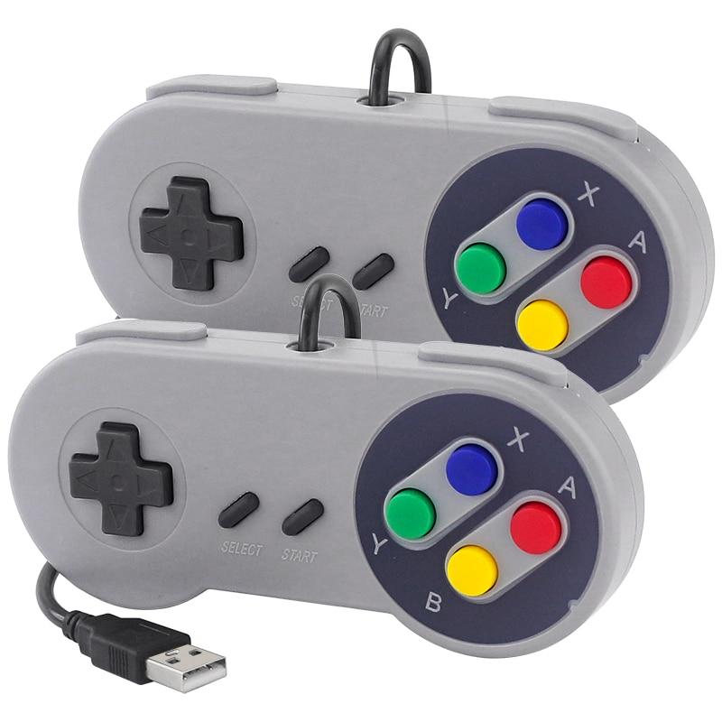 2 шт. USB игровой Управление; Игровой джойстик Ретро геймпад проводной Gamestick Управление для ПК/Windows/Linux SNES / Raspberry Pi