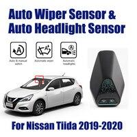 Akıllı araba sürüş asistanı sistemi Nissan Tiida 2019-2020 için otomatik otomatik yağmur silecek sensörü ve far sensörleri