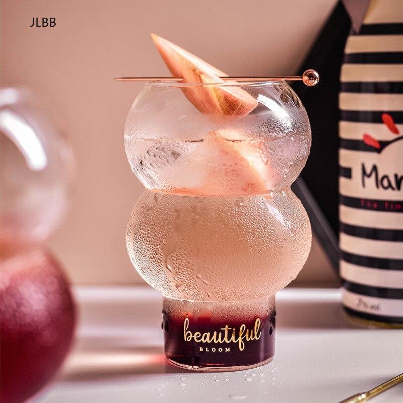 Beautiful Bloom Beau Martini Cocktail Pint Glass Spherical Ball Lemonade Collins Mug Dessert Mousse Cup Yogurt Ice Cream Tumbler