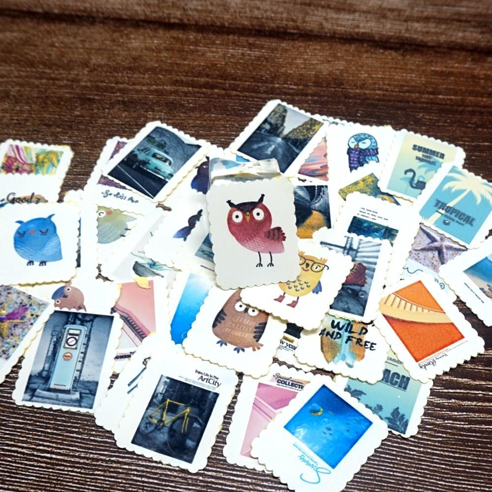 42PCS Lovely Animals Stickers Cartoon DIY Decorative Diary Scrapbooking Album Gift Stickers For Children Kids Girls Boys Student
